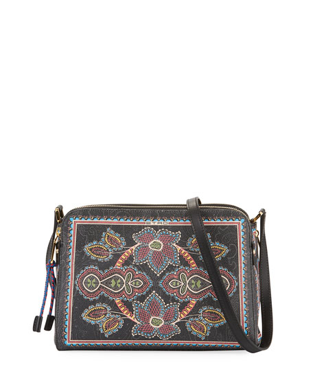 Etro Twister Crossbody Dual Zip Bag