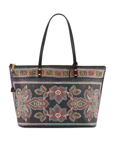 Etro Shopping Twister Tote Large Bag