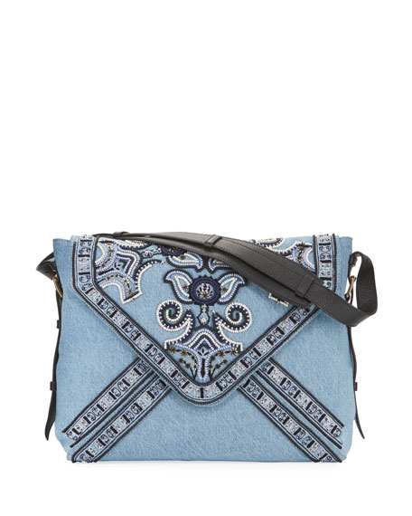 Etro Goa Ricamo Jean Clutch Bag