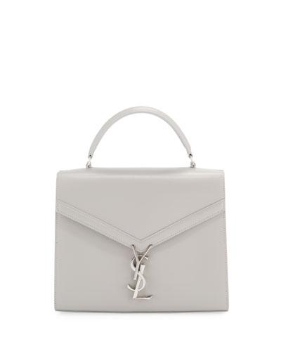 Cassandra Medium Grain de Poudre Tech Top-Handle Shoulder Bag