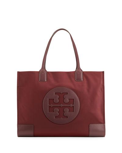 Ella Nylon Logo Tote Bag