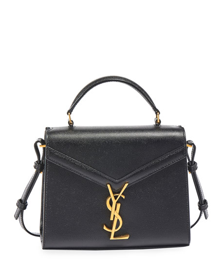 Saint Laurent Cassandra Mini Grain du Poudre Top-Handle Bag