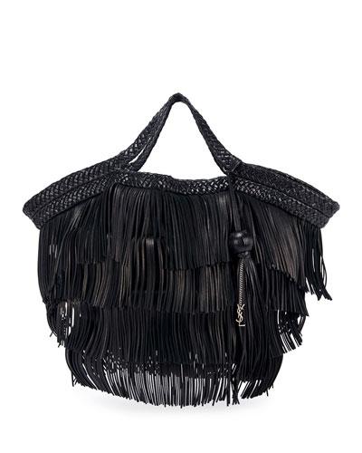Stella Womens Fringe Chain Tassel Tote Bag Ladies Purse Shoulder Handbag Work