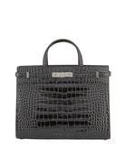 Saint Laurent Manhattan Small Croco Tote Bag