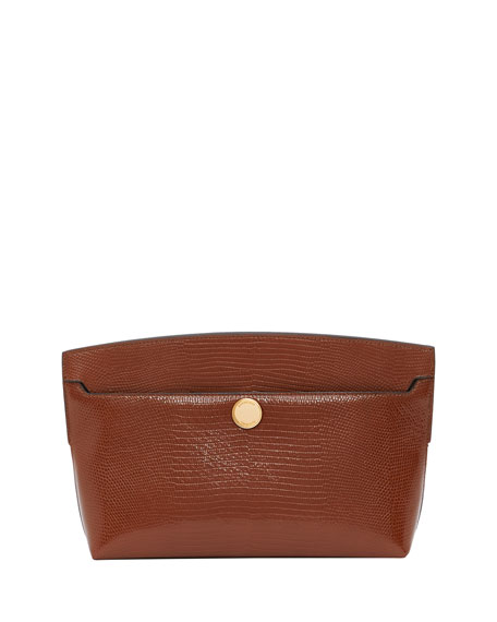 Burberry Small Society Clutch Faux Lizard Bag