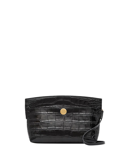 Burberry Small Society Faux-Croc Crossbody Bag