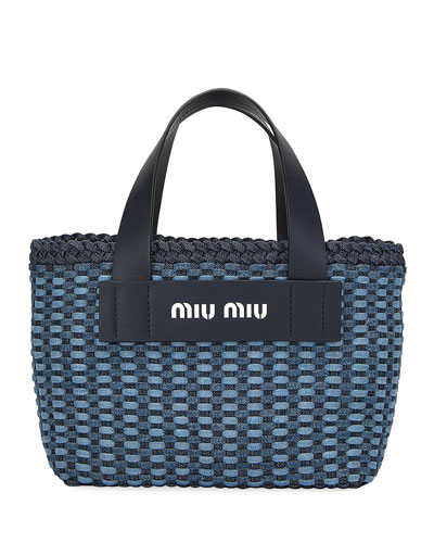 Intreccio Denim Tote Bag