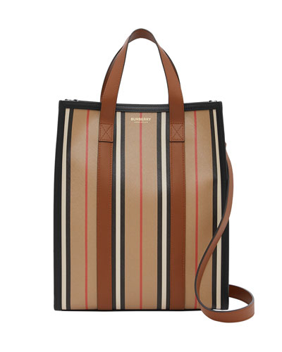 Small N/S Icon Stripe Book Tote Bag