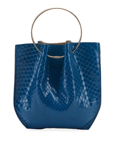 Flat Micro Circle Bag in Python