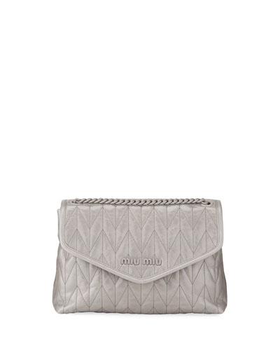 Shine Trapuntato Soft Shoulder Bag