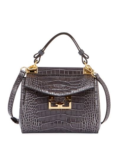 Mystic Mini Croc-Embossed Bag