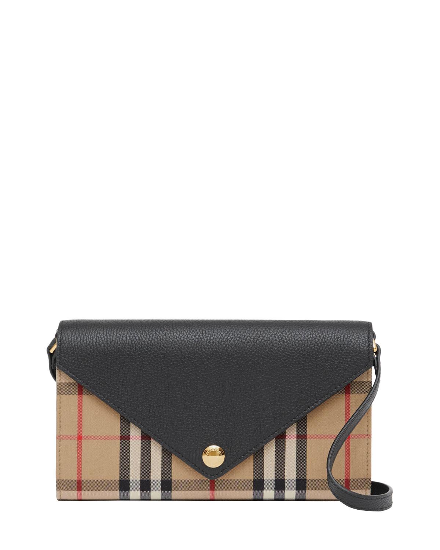 Hannah EV Vintage Check/Leather Crossbody Bag