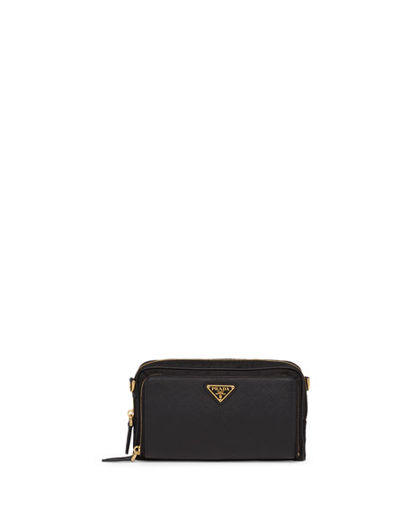 Prada Nylon + Saffiano Mini Bag w/ Removable Crossbody Strap
