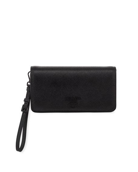 Prada Saffiano Mini Bag w/ Removable Wristlet and Crossbody Straps