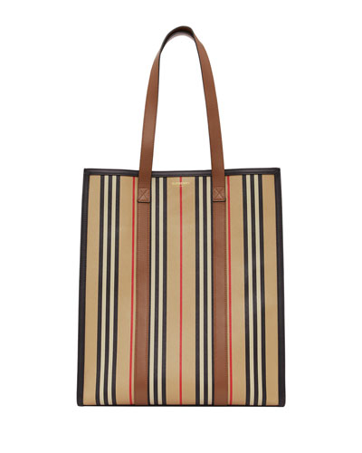 Large Stripe Canvas Tote Bag