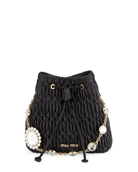 Miu Miu Napa Crystal Bucket Bag