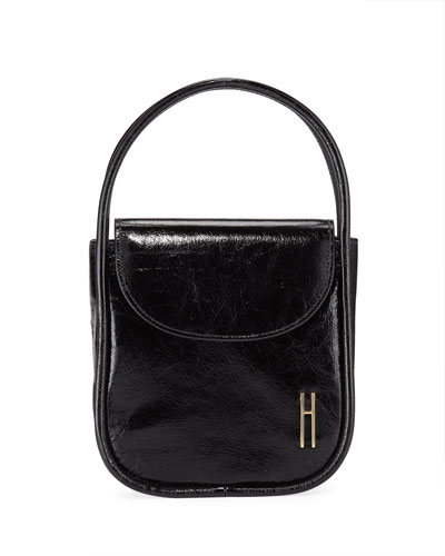 Lucy Top-Handle Bag in Crinkle Leather