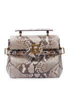 Balmain BBuzz 23 Python Shoulder Bag
