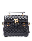 Balmain BBuzz 23 Quilted Lamb Leather Shoulder Bag