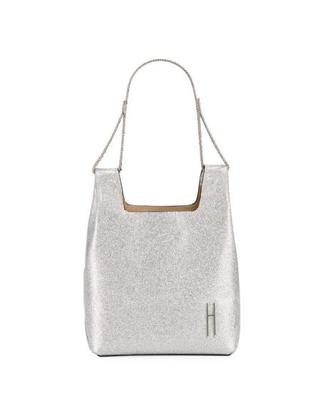 Hayward Mini Metallic Chain-Handle Tote Bag