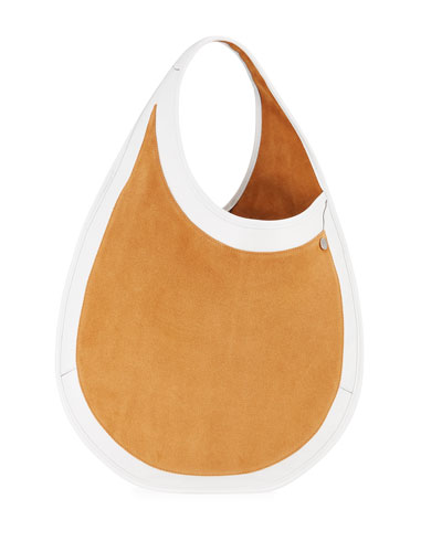 Teardrop Large Suede & Leather Tote Bag