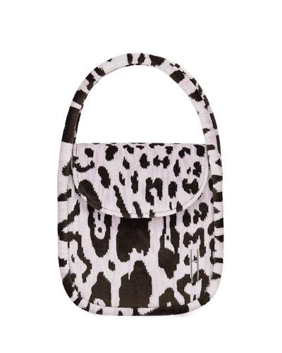 Lucy Top-Handle Bag in Leopard Brocade