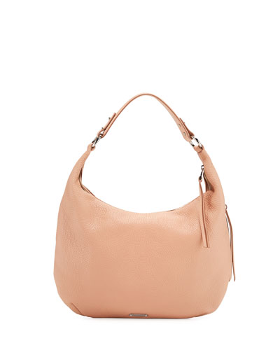 Michelle Leather Hobo Bag