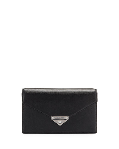 Grace Leather Envelope Clutch Bag
