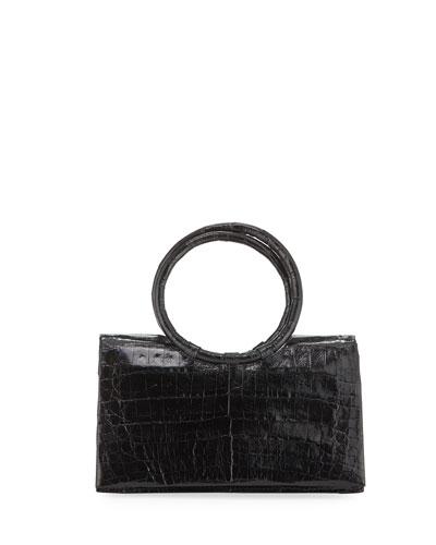 Regina Small Clutch Bag with Circle Handles