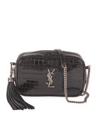 Saint Laurent Lou Mini YSL Monogram Calf Camera