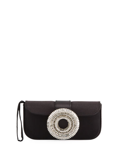 Jeni Satin Clutch Bag