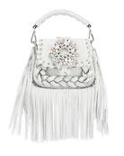 Gedebe Alice Small Top-Handle Fringe Shoulder Bag