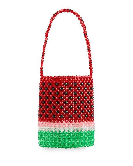 Susan Alexandra Watermelon Top Handle Bucket Tote Bag