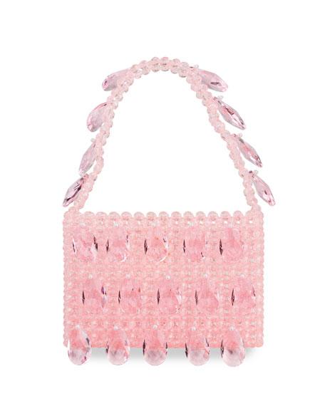 Susan Alexandra Peony Crystal Charm Top Handle Bag