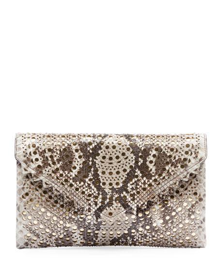 ALAIA Oum Python Clutch Bag