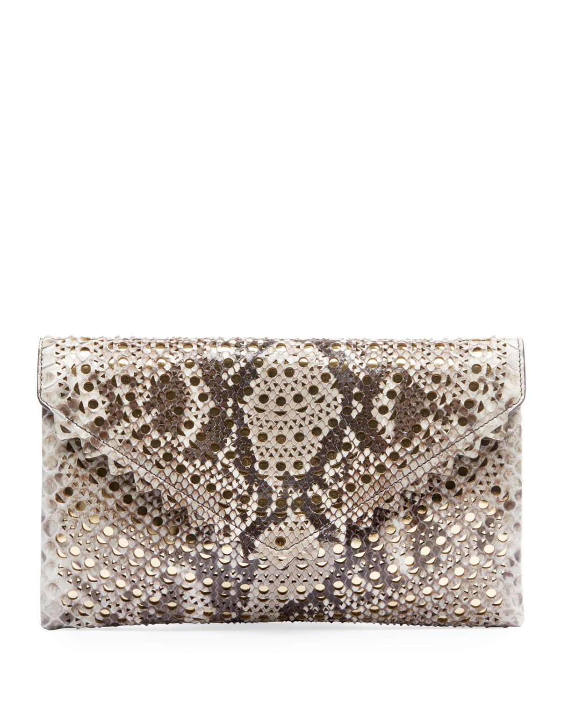 Oum Python Clutch Bag