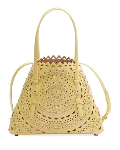 ALAIA Mina Mini Cutout Top Handle Bag