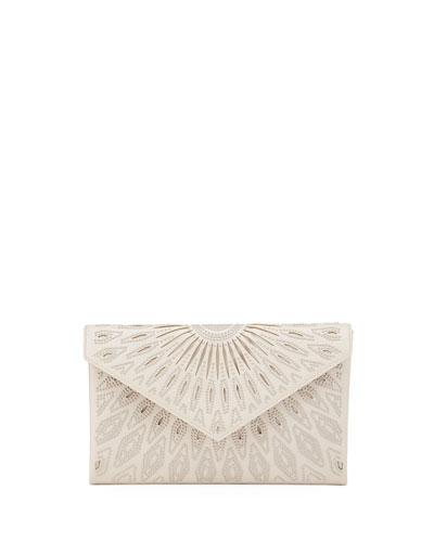 Oum Studded Cutout Envelope Clutch Bag