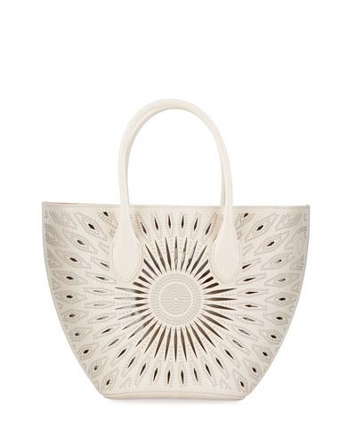 Latifa Cutout Leather Mini Tote Bag
