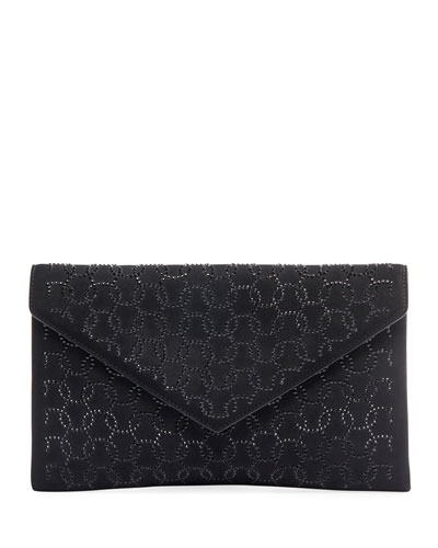 Oum Crystal Envelope Clutch Bag