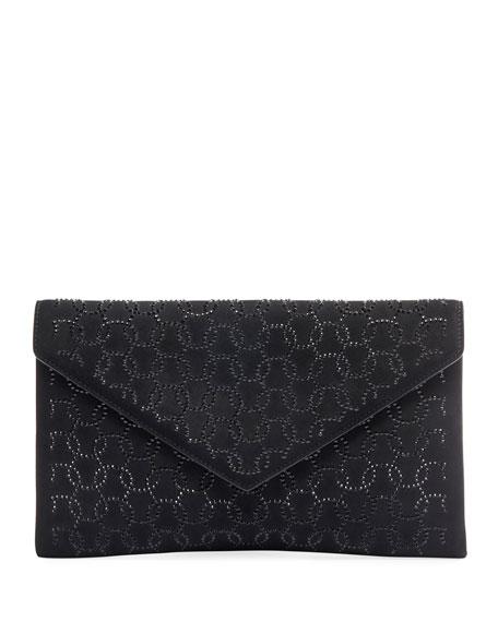 ALAIA Oum Crystal Envelope Clutch Bag
