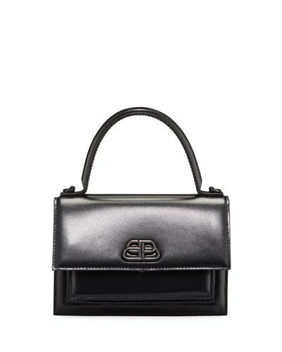 Sharp AJ XS Leather Top-Handle Bag