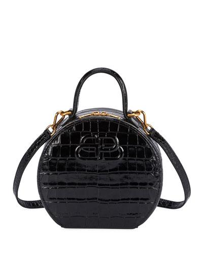 Vanity XS Mock-Croc Round Bag