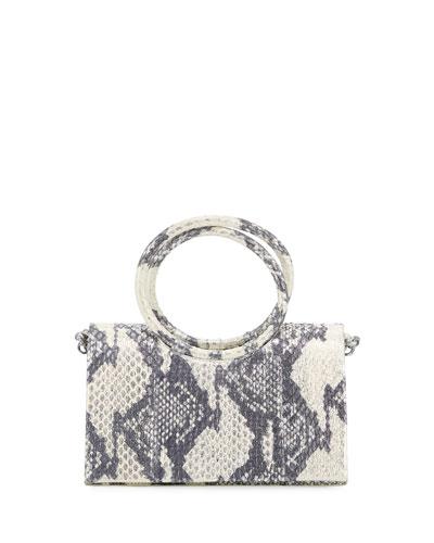 Regina Small Elaphe Clutch Bag with Circle Handles