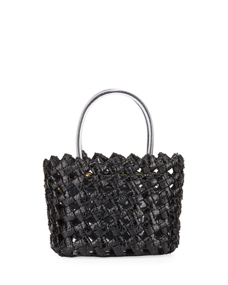 Nancy Gonzalez Small Woven Elaphe Tote Bag