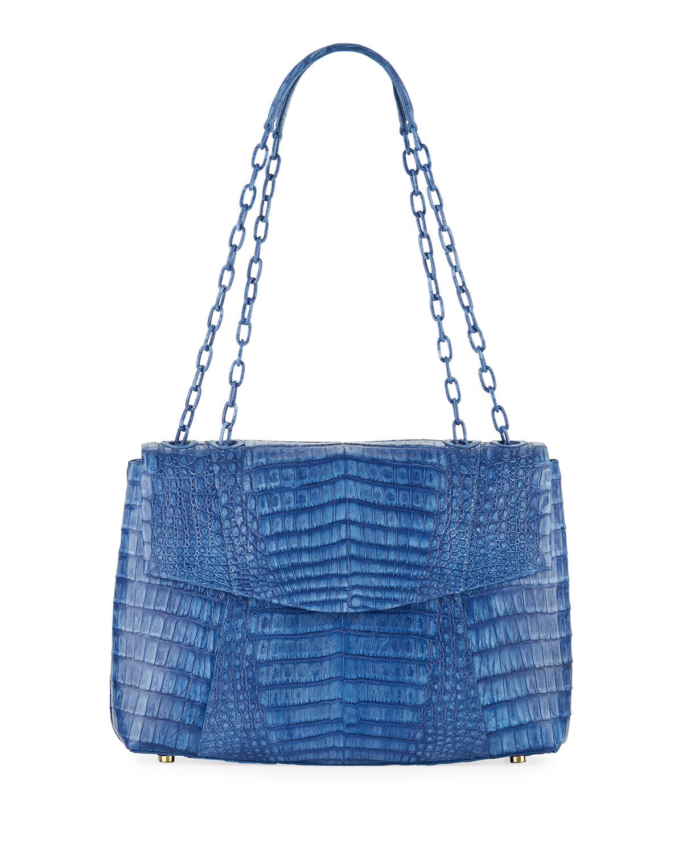 Nancy Gonzalez Shoulder-bags MEDIUM DOUBLE CHAIN SOFT FLAP BAG