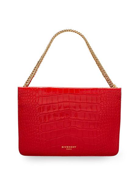 Givenchy Cross 3 Mock-Croc Chain Crossbody Bag
