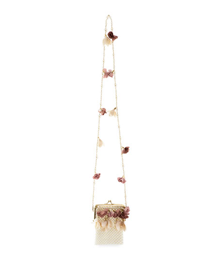 Rosantica Calendula Faux-Pearl Minaudiere Bag