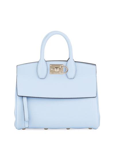 The Studio Medium Grainy Leather Top-Handle Bag