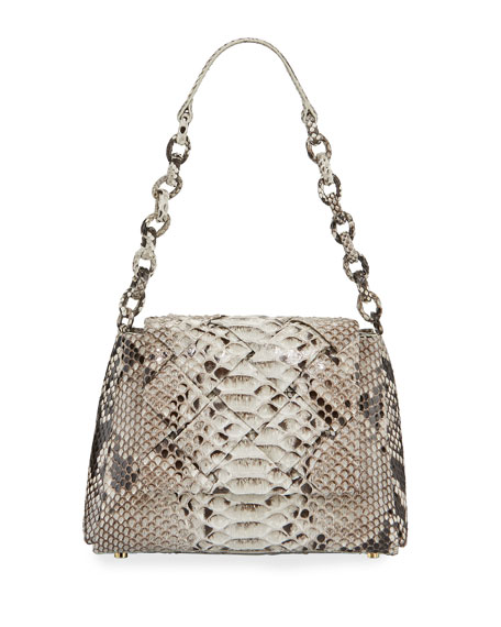 Nancy Gonzalez Medium Flap Shoulder Bag With Weave